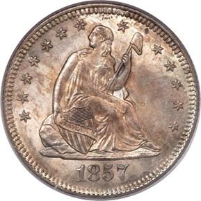 1857 O 25C MS obverse