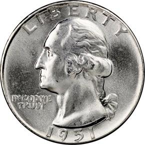 1951 25C MS obverse