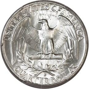 1959 D 25C MS reverse