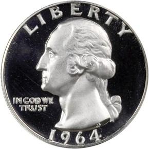 1964 25C PF obverse