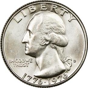 1776-1976 D 25C MS obverse