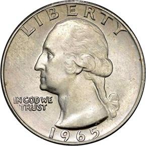 1965 25C MS obverse