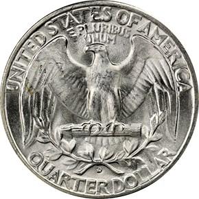 1945 D 25C MS reverse