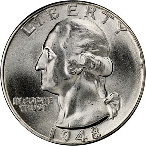 1948 25C MS obverse