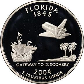 2004 S SILVER FLORIDA 25C PF obverse