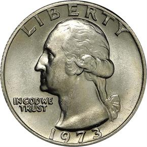 1973 25C MS obverse