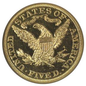 1903 $5 PF reverse