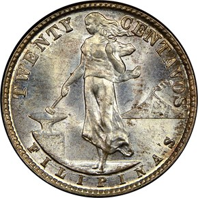 1944 D USA-PHIL 20C MS obverse