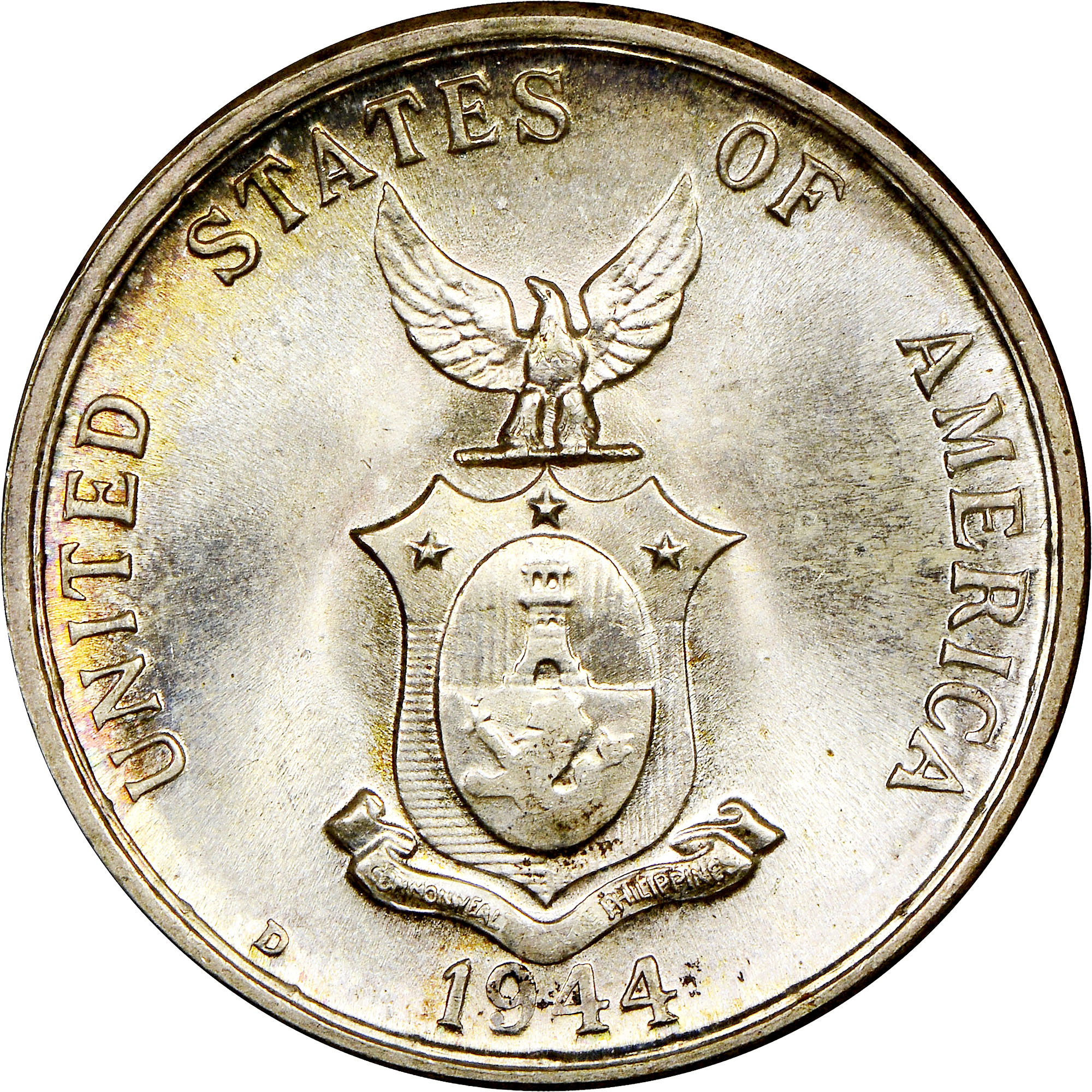 1944 D Usa Phil 20c Ms Philippines Under Us Sovereignty Ngc