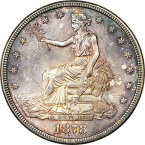 1878 S T$1 MS obverse