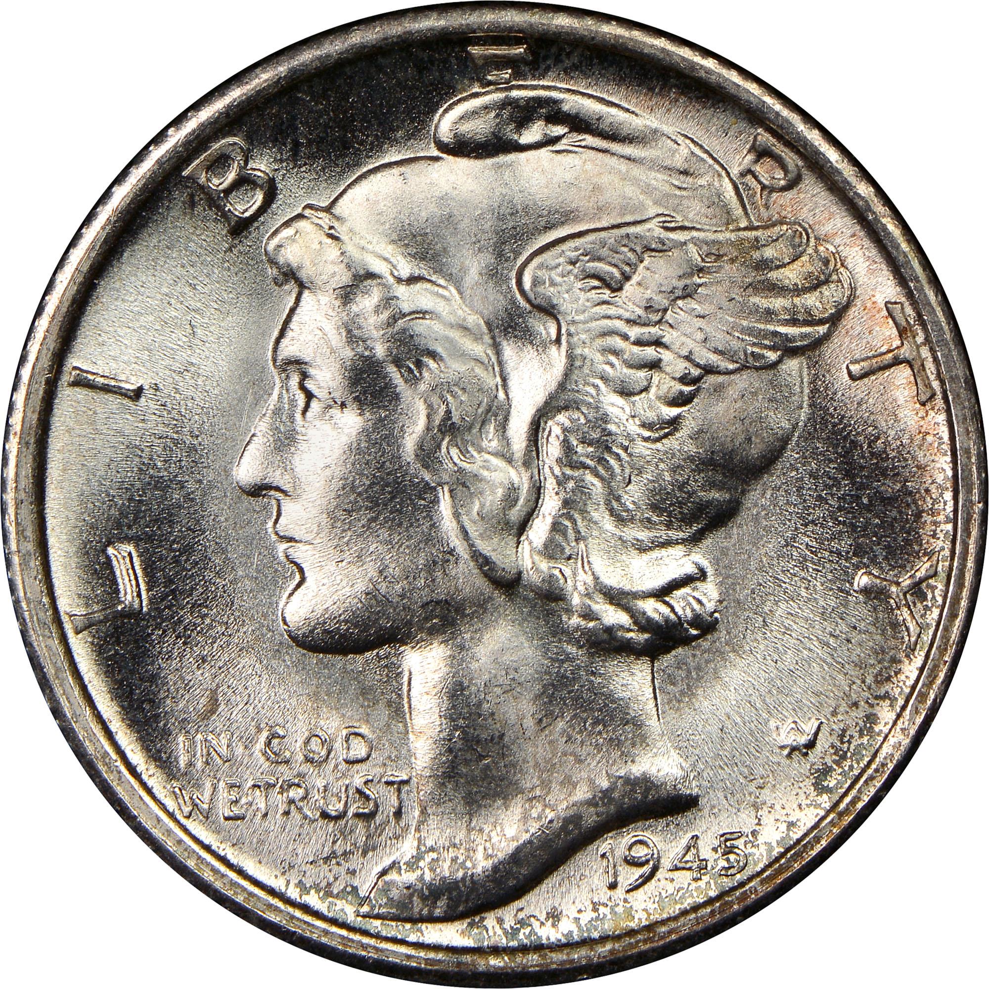 1945 S 10c Ms Mercury Dimes Ngc