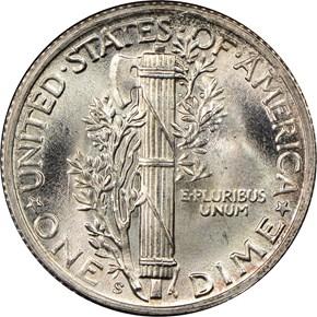 1945 S 10C MS reverse