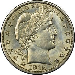 1915 D 50C MS obverse