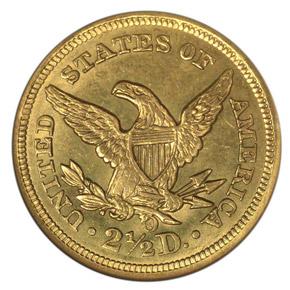 1857 O $2.5 MS reverse