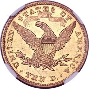 1873 $10 MS reverse