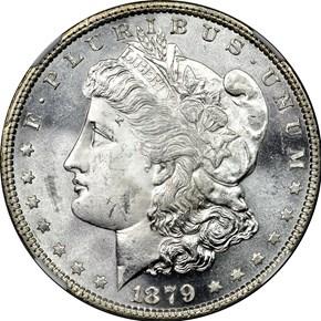 1879 S$1 MS obverse