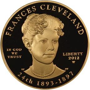 2012 W FRANCES CLEVELAND TERM 2 G$10 PF obverse