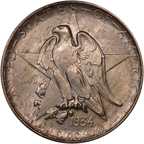 1934 TEXAS 50C MS obverse