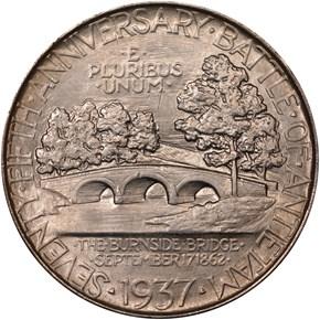1937 ANTIETAM 50C MS reverse