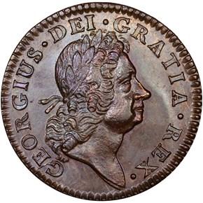 1724 HIBERNIA 1/2P MS obverse