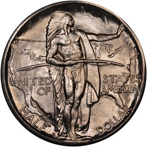 1937 D OREGON TRAIL 50C MS obverse