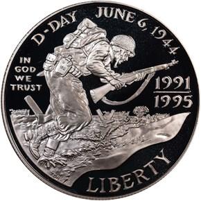 1991-1995 W WORLD WAR II ANNIVERSARY S$1 PF obverse