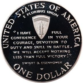 1991-1995 W W.W.II S$1 PF reverse