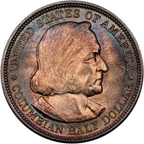 1892 COLUMBIAN 50C MS obverse