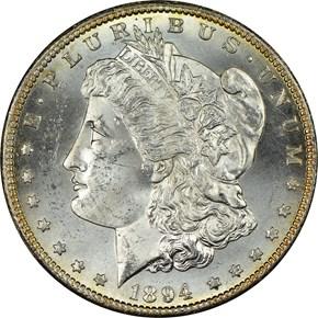 1894 S $1 MS obverse