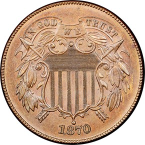 1870 2C MS obverse