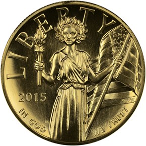 2015 W HIGH RELIEF - .9999 FINE G$100 MS obverse