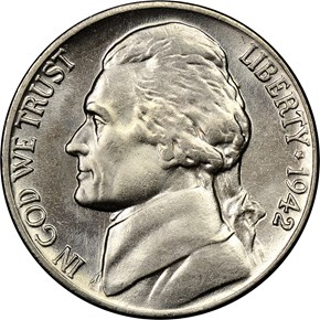 1942 NICKEL 5C MS obverse