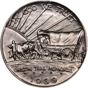 1939 S OREGON TRAIL 50C MS reverse