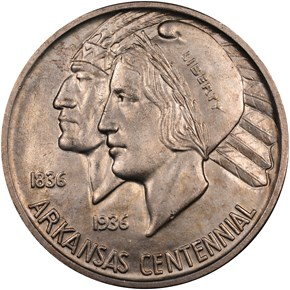 1935 ARKANSAS 50C MS obverse
