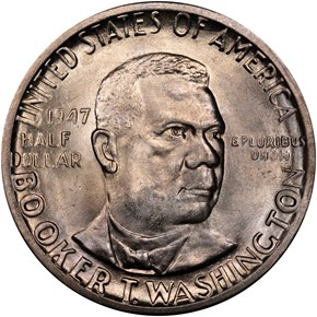 1947 D BOOKER T. WASHINGTON 50C MS obverse