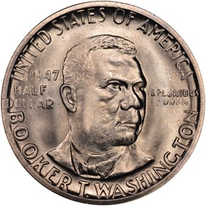 1947 S BOOKER T. WASHINGTON 50C MS obverse