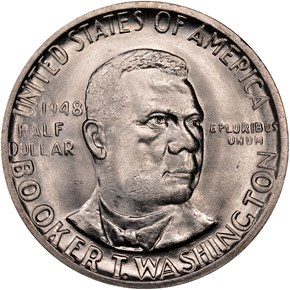 1948 BOOKER T. WASHINGTON 50C MS obverse
