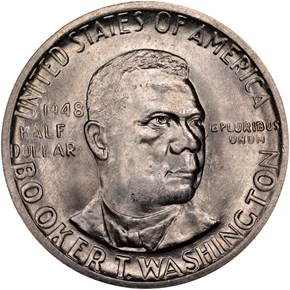 1948 D BOOKER T. WASHINGTON 50C MS obverse
