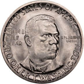 1948 S BOOKER T. WASHINGTON 50C MS obverse