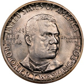1949 D BOOKER T. WASHINGTON 50C MS obverse
