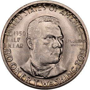 1950 D BOOKER T. WASHINGTON 50C MS obverse