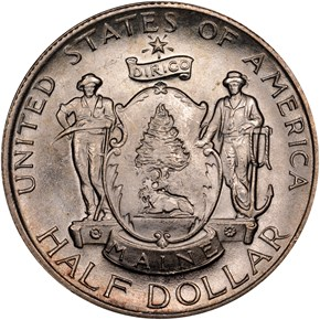 1920 MAINE 50C MS obverse