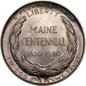 1920 MAINE 50C MS reverse