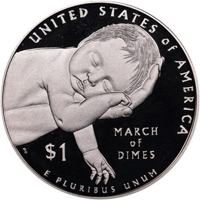 2015 W MARCH OF DIMES S$1 PF reverse