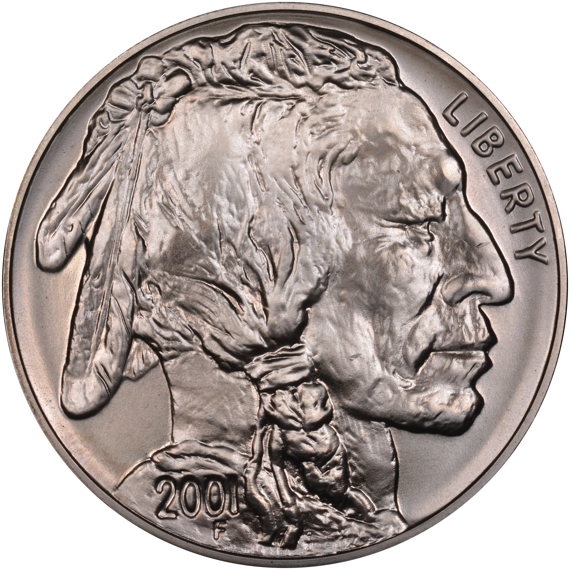 WHITE PERFECT NEAR NGC MS69 2001-D BUFFALO silver $1