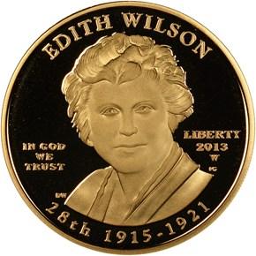 2013 W EDITH WILSON G$10 PF obverse