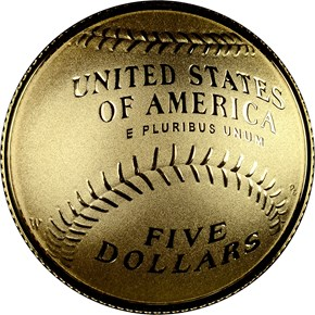 2014 W BASEBALL HALL OF FAME $5 PF reverse