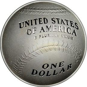 2014 P BASEBALL HALL OF FAME S$1 PF reverse