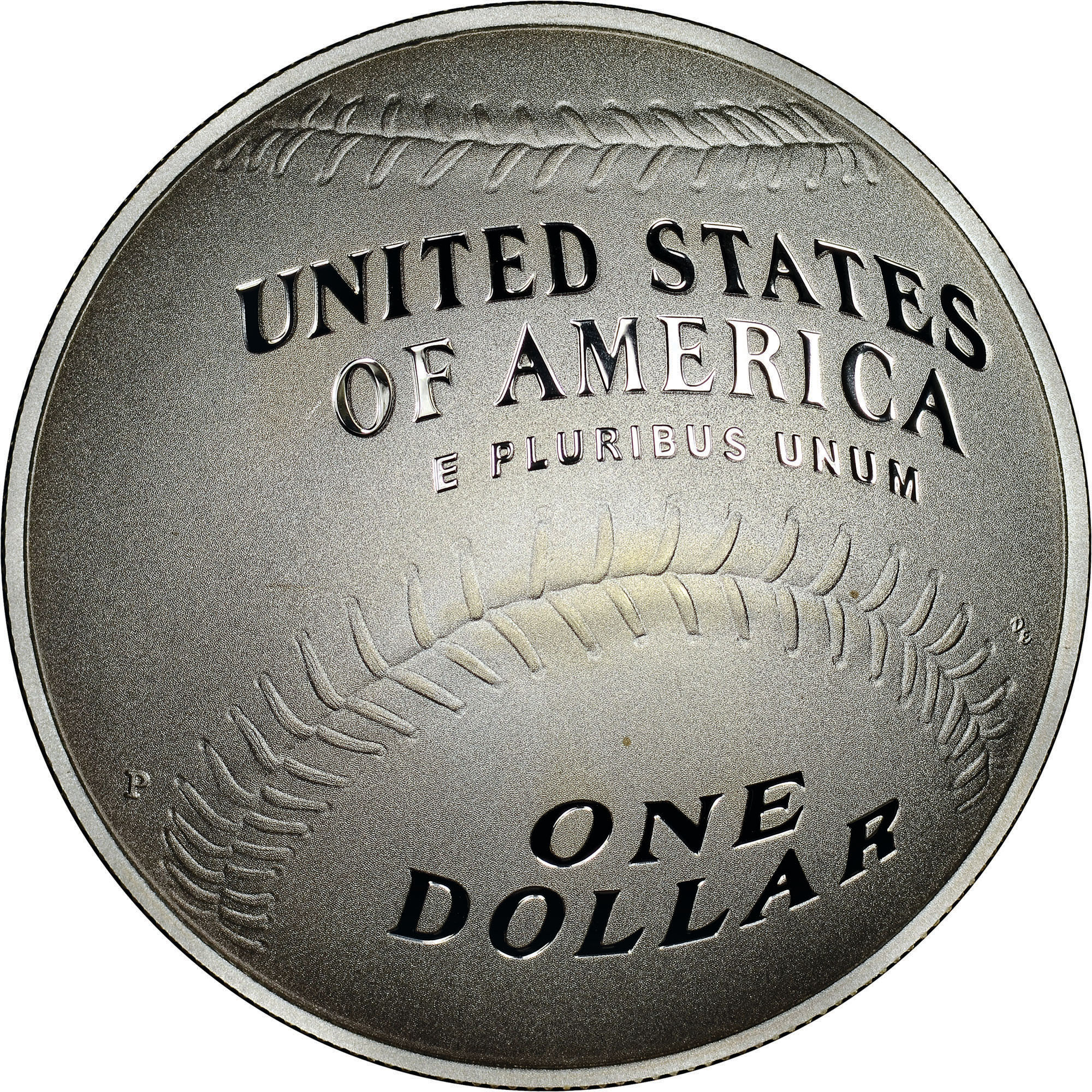 2014 P National Baseball Hall PROOF SILVER $1 2014 S PROOF CLAD Half 2 Coins