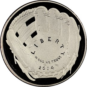 2014 S BASEBALL HALL OF FAME 50C PF obverse